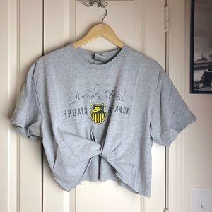 Nike Women's Vintage Gray Logo Crop Top